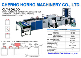 Fully Automatic Loop Handle, Die Cut Handle & Draw Tape Bags Making Machine