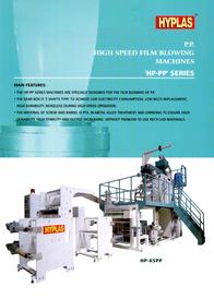 P.P. High Speed Film Blowing Machines