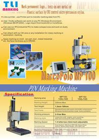 Precision CNC Micro-Percussion Stylus Marking Machine MP100 (English)