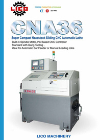Super Compact Headstock Sliding CNC Automatic Lathe